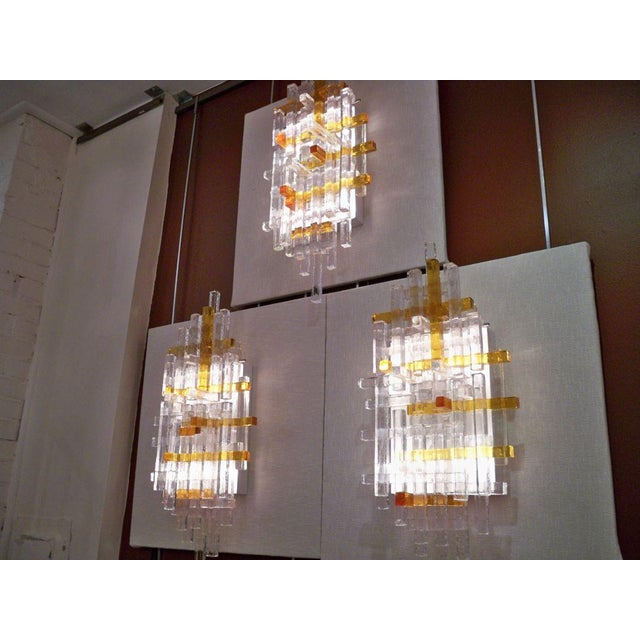 Poliarte Poliarte Single Large Glass Wall Sconces Italy circa 1970 For Sale - Image 4 of 5