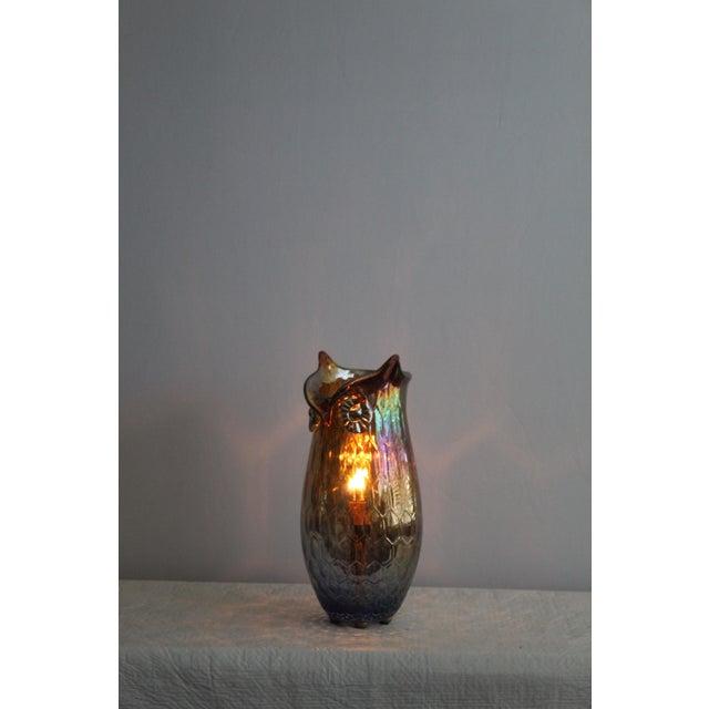 Mid-Century Modern Vintage Mid Century Modern Art Glass Owl For Sale - Image 3 of 10