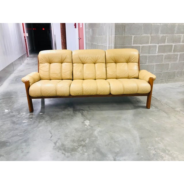 1970s 1970s Vintage Ekornes Stressless Montana Solid Teak Loveseat and Sofa - 2 Pieces For Sale - Image 5 of 13