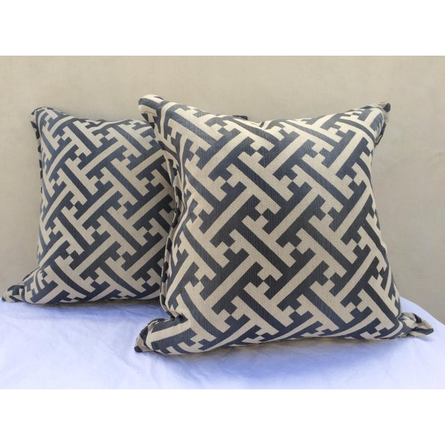 Modern Contemporary Graphic Pattern Pillows - a Pair - Image 2 of 7