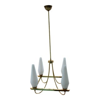 Italian Brass Chandelier For Sale