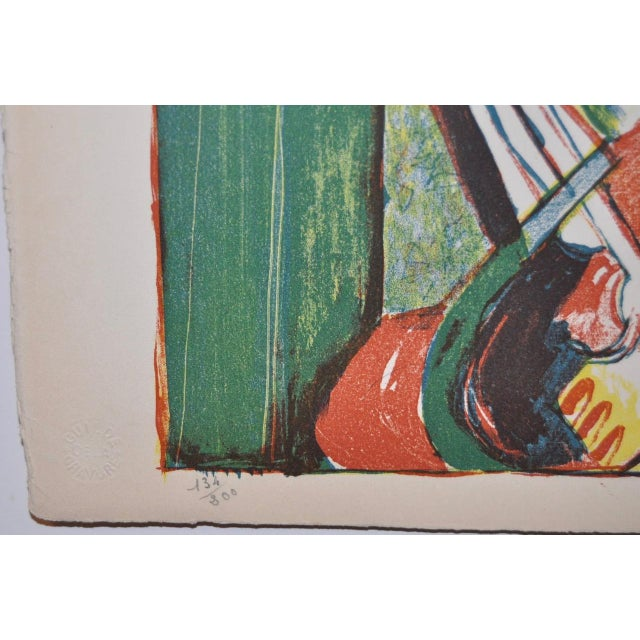 Mid Century Figural Abstract by Becker c.1953 For Sale - Image 5 of 5