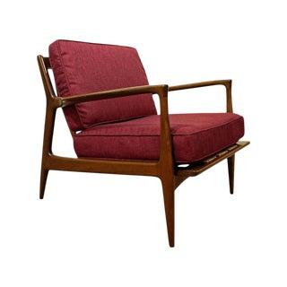 Mid-Century Danish Modern Ib Kofod Larsen Walnut Lounge Chair