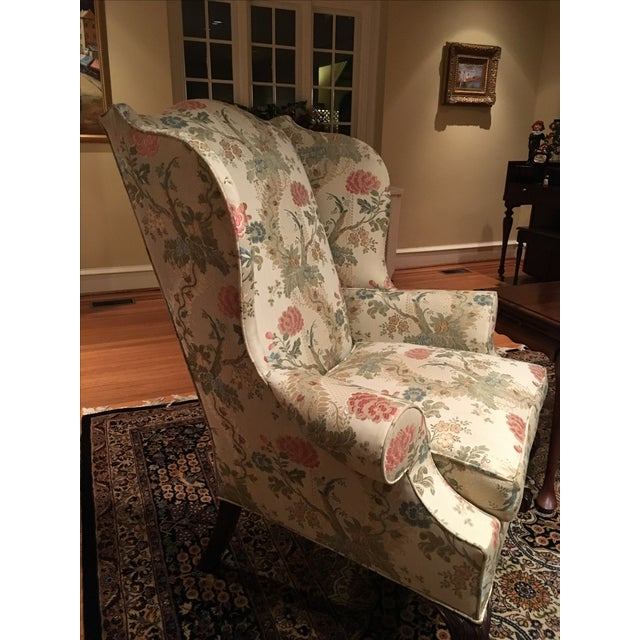 Kindle Floral Motif Wing Chair - Image 6 of 6