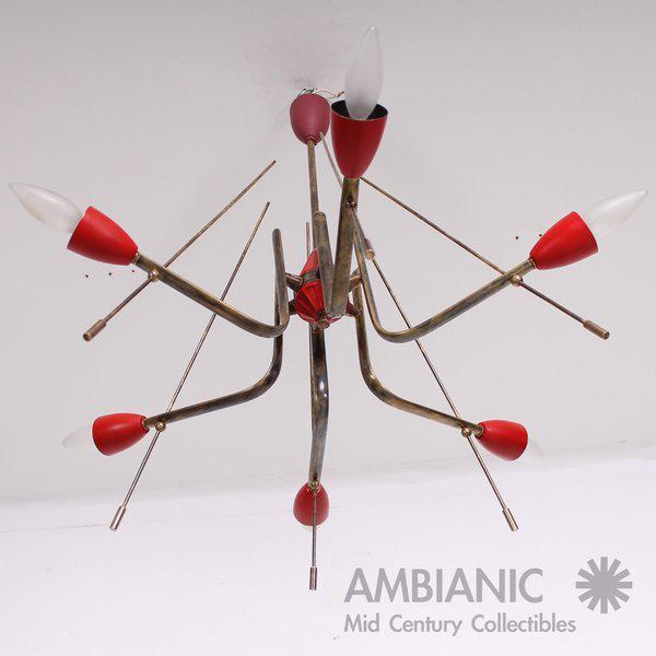 Italian Mid-Century Modern Italian Sputnik Chandelier For Sale - Image 3 of 10