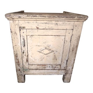 Late 19th Century Rustic French One Door Cabinet For Sale