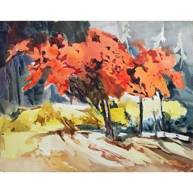 Thelma Moody 1960's Double-Sided Gouache Landscape - Image 1 of 7