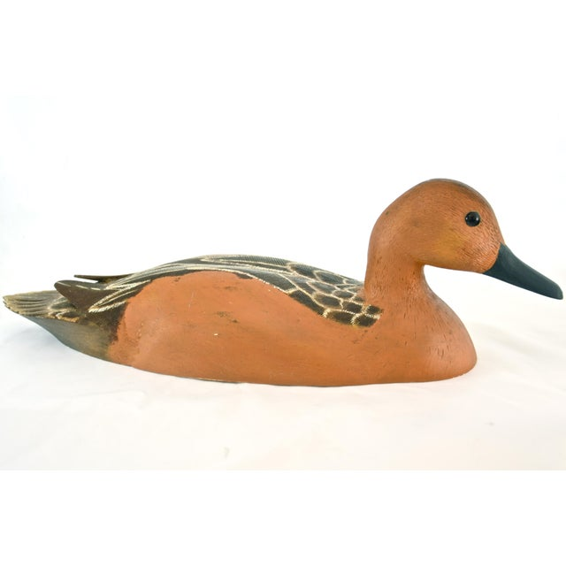 Rustic Hand-Carved Wood Duck - Image 6 of 6