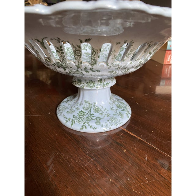 Mid 19th Century WR& Co William Ridgway 'Flosculous' French Pedestal Compote For Sale In New York - Image 6 of 10