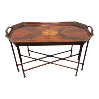 Councill Inlaid Flame Mahogany Coffee Cocktail Table For Sale