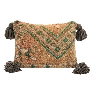 Vintage Moroccan Wool Throw Pillow
