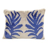 Image of Ikat Velvet Pillow With Floral Motif For Sale