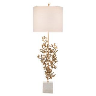 John Richard Sample Brass and Marble Botanical Table Lamp For Sale