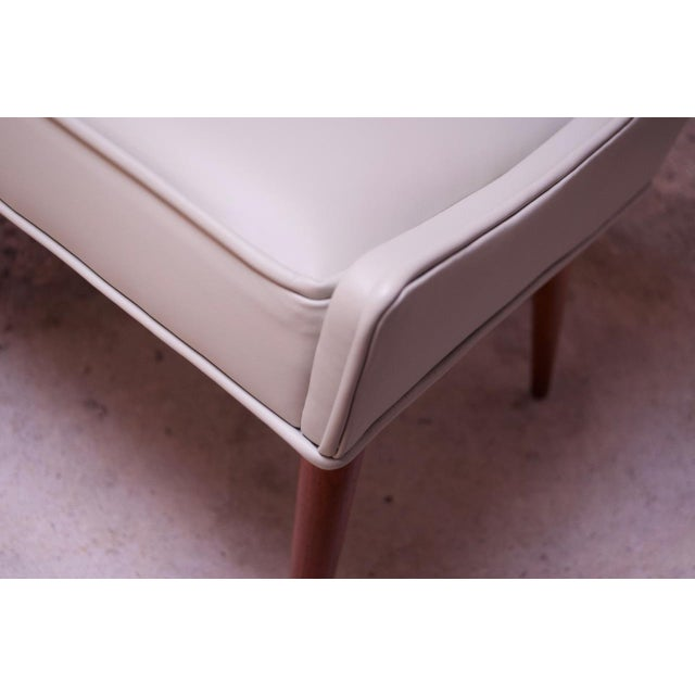 Vintage Walnut and Leather Slipper Chairs by Milo Baughman - a Pair For Sale - Image 10 of 13