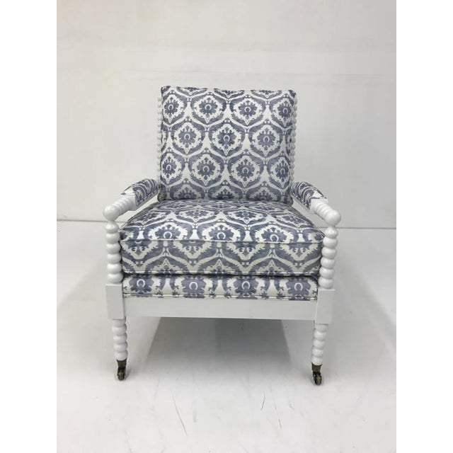 The Hannah Chair is a first quality market sample that features a Down Plush Seat Cushion and a Fiberdown Back Cushion. It...