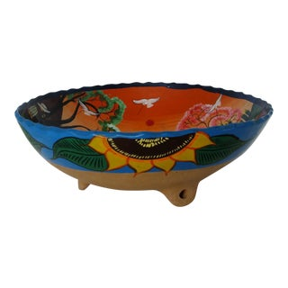 Mexican Ceramic Footed Bowl For Sale