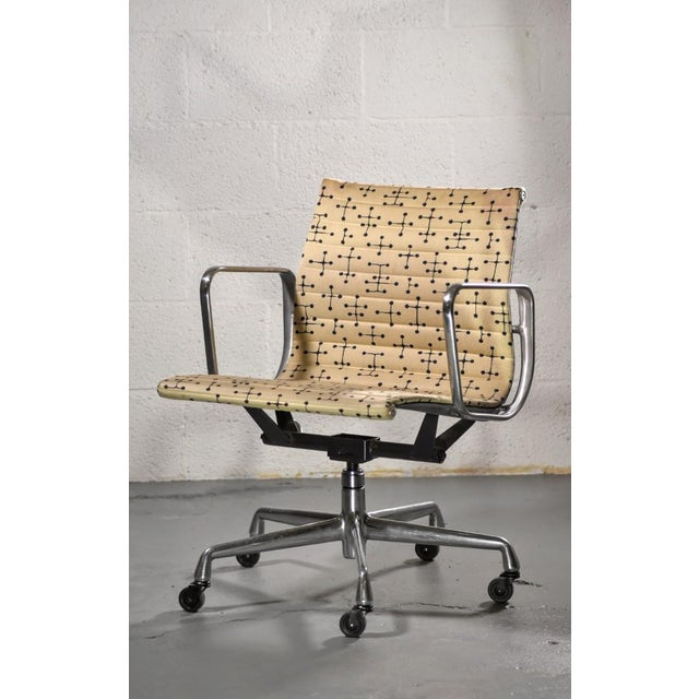 10 - Herman Miller - Eames Aluminum Group Management Chair with Small Dot Pattern Fabric Designed by Ray Eames Some have...