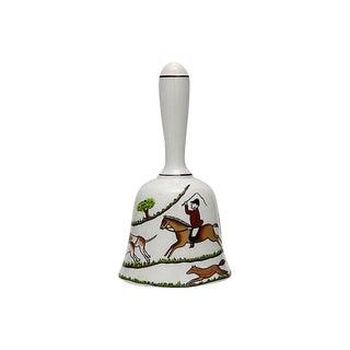 English Hunting Scene Dinner Bell For Sale