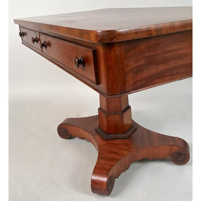 Wood 1825 George IV Mahogany Writing Desk For Sale - Image 7 of 11