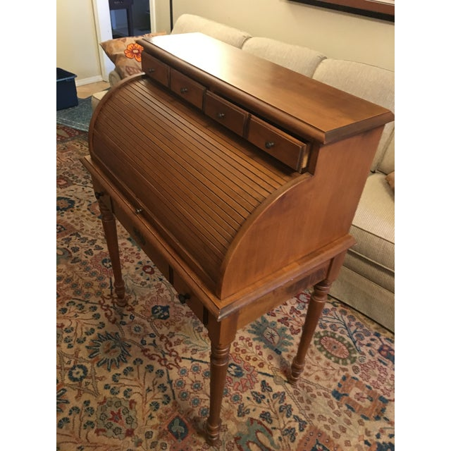 American Early American Tell City Chair Company Roll-Top Secretary Desk For Sale - Image 3 of 13