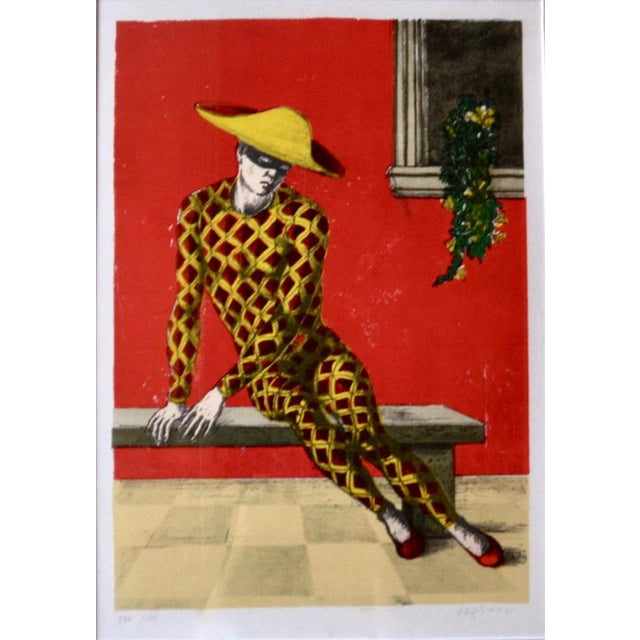 Aldo Pagliacci, (1913-1991), lithograph edition 250/275. Italian painter, engraver and world famed maker of violins, from...