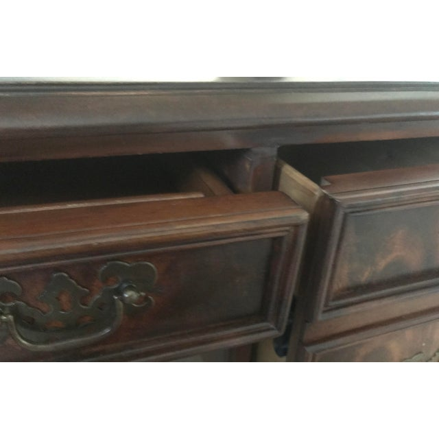 Hekman Leather Top Writing Desk For Sale - Image 12 of 13