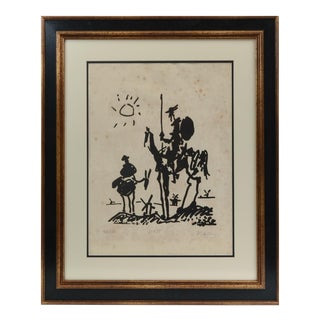 "Vintage Signed ""Don Quixote De La Mancha""Lithograph by Pablo Picasso For Sale"