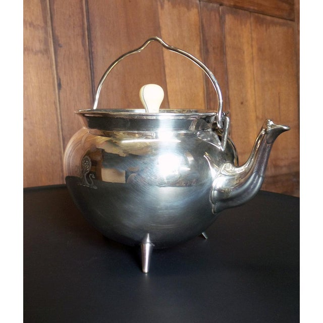 Traditional Christopher Dresser Silver Teapot For Sale - Image 3 of 7