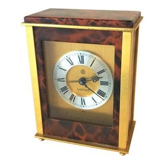 Vintage Swedish Travel Alarm Clock by Mark Cross For Sale