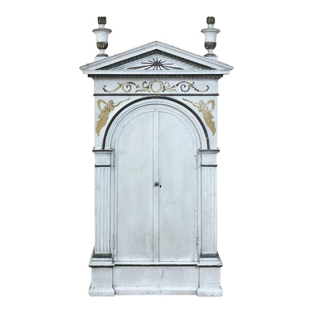 19th Century French Neoclassical Painted Tabernacle For Sale