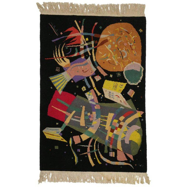 "Art Deco Style Tapestry Inspired by Wassily Kandinsky's ""Composition X"" For Sale - Image 4 of 4"