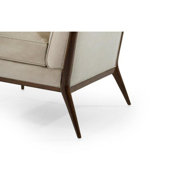 Wanut Frame Slipper Chairs by Paul McCobb for Directional - a Pair For Sale - Image 10 of 12