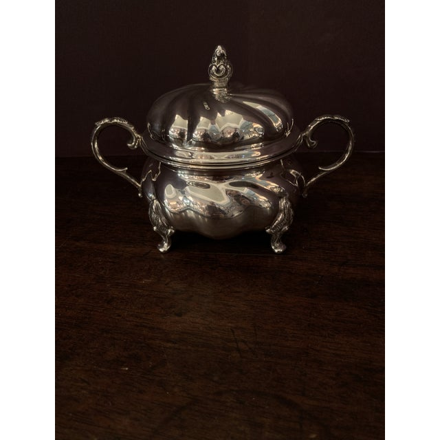 Handarbeit Sterling Silver Tea & Coffee Set - 4 Pc. Set For Sale - Image 4 of 13