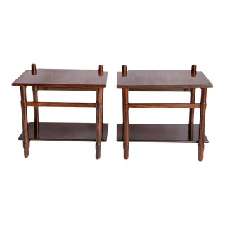 Michel Arnoult Side Tables in Jacaranda Wood - a Pair For Sale