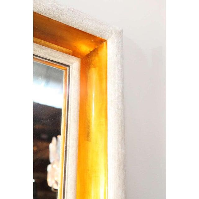 Paul Marra Design Cove Mirror in Driftwood finish and Dutch gold.