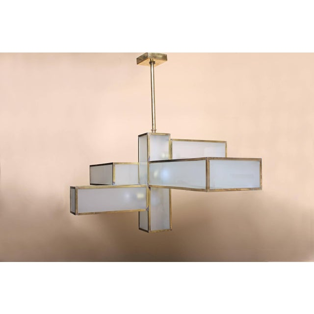 Geometric Chandelier Attributed to Jean Perzel For Sale - Image 10 of 10