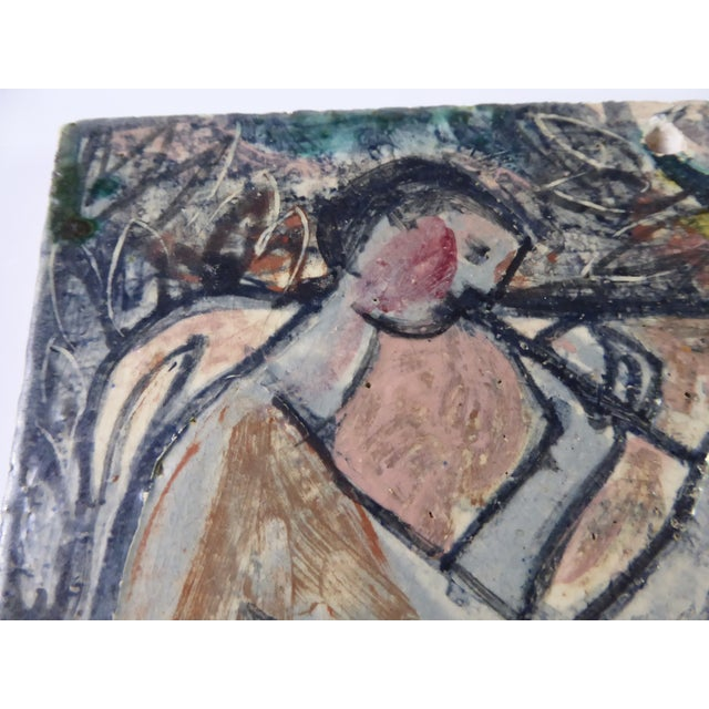 1950s Swiss Modern Pottery Wall Plaques by Philippe Lambercy - Set of 3 For Sale - Image 10 of 13