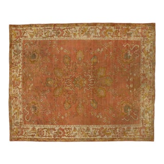 Antique Turkish Oushak Area Rug - 10'00 X 12'05 For Sale