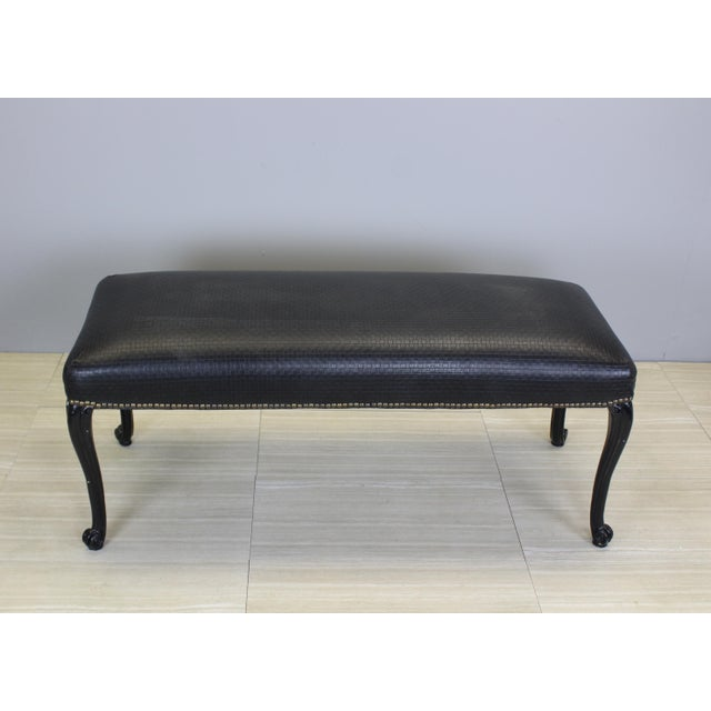 Vintage Queen Ann Style Bench - Image 3 of 4