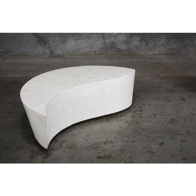"1990s 1990s Contemporary White Freeform Tessellated Stone ""Hampton"" Coffee Table For Sale - Image 5 of 13"