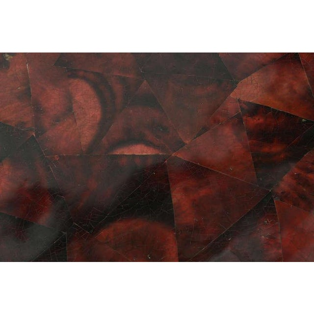 Boho Chic 1970s Boho Chic Maitland Smith Tesselated Coconut Shell Tray For Sale - Image 3 of 11