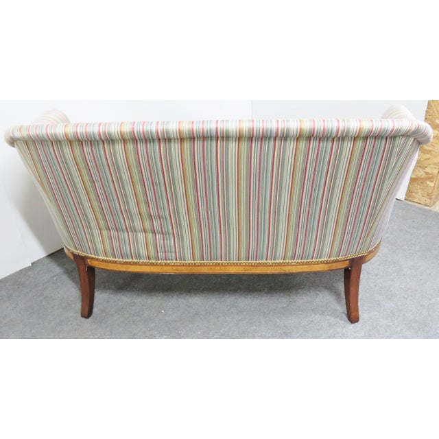 Hickory Chair Co. Mahogany Satinwood Settee For Sale In Philadelphia - Image 6 of 8