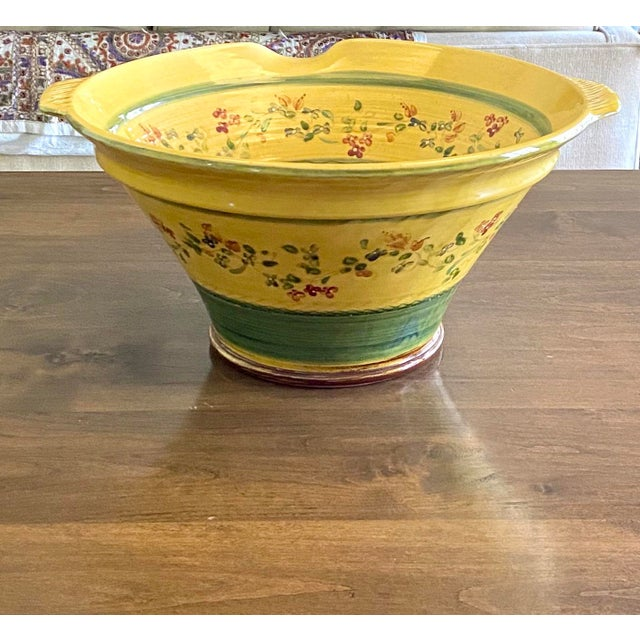 Large Hand Painted Italian Pasta Bowl For Sale In New York - Image 6 of 9