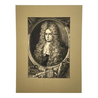18th Century Mezzotint Portrait of Nicolaas Witsen, Mayor of Amsterdam For Sale