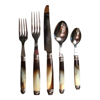 Alain Saint-Joanis Recamier Marble Place Setting - 5 Pieces For Sale