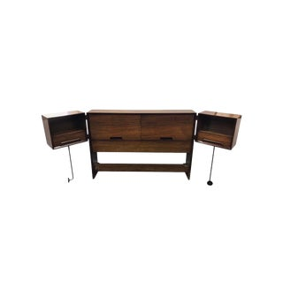Mid-Century Modern Signed Drexel Perspective Full Bed Milo Baughman Design For Sale
