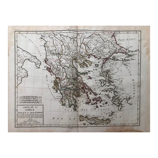 1810s Antique Map of Greece and Macedonia For Sale