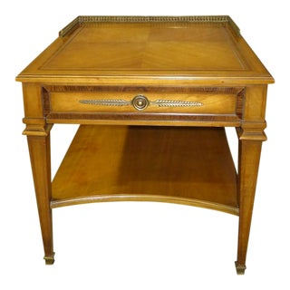 1960s Vintage Weiman Inlaid Nightstand For Sale