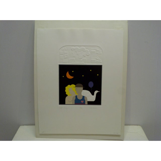 "Modern 20th Century Silkscreen Print ""Night Images"" by Christina Parrett For Sale - Image 3 of 9"