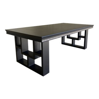 Chinoiserie Black Coffee Table For Sale